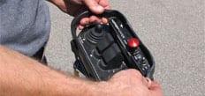 Hopper popper wireless handheld controller.