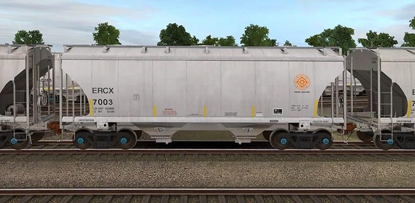 Hopper Railcar Train Tracks3