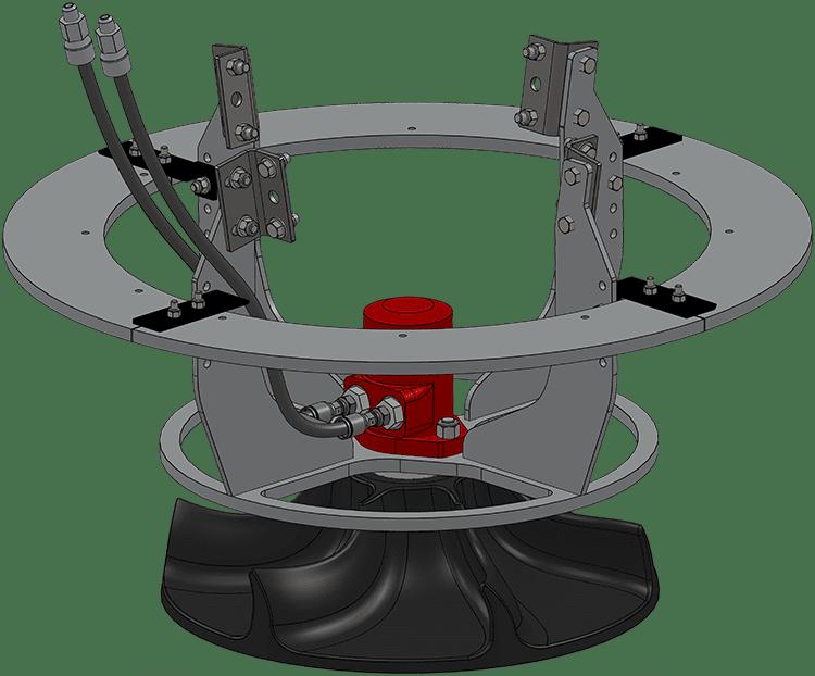 Railcar Hopper Loading Spreader Disk
